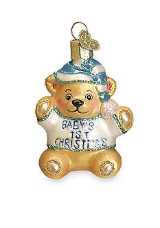 Old World Christmas 4-in. Baby's First Teddy Bear Ornament - Boy
