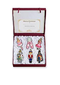 Old World Christmas 6-Piece Set Nutcracker Suite Glass Ornaments
