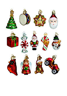 Old World Christmas Set of 12 Glass Miniature Christmas Ornaments