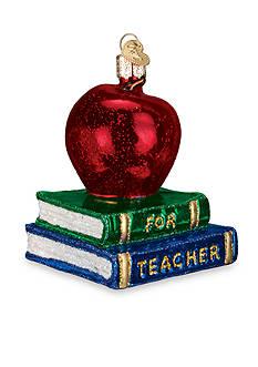 Old World Christmas 3.5-in. Teacher's Apple Ornament