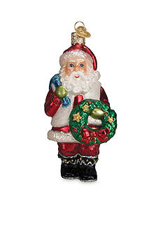 Old World Christmas 5.25-in. Santa with Wreath Ornament