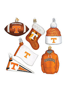 Old World Christmas 6-Piece University of Tennessee Ornament Set