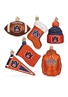 Old World Christmas 6-Piece Auburn University Ornament Set