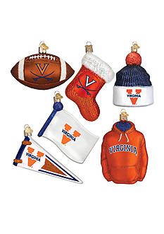 Old World Christmas 6-Piece University of Virginia Ornament Set