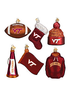 Old World Christmas 6-Piece Virginia Tech Ornament Set