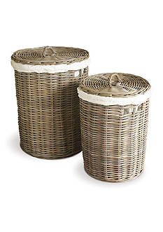 Napa Home & Garden™ Normandy Set of 2 Round Hampers with Cotton Liners