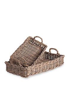 Napa Home & Garden™ 2-Piece Normandy Rectangle Serving Tray Set