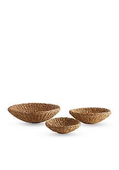Napa Home & Garden™ Set of 3 Seagrass Shallow Bowls