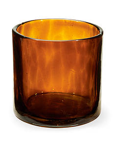 Napa Home & Garden™ 5-in. H Tortoise Glass Candleholder