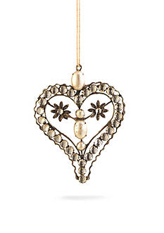 Napa Home & Garden™ 6-in. Vintage Pearl Heart Ornament
