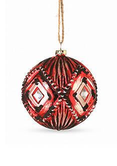 3.5-in. H Ornate Glass Ball Ornament