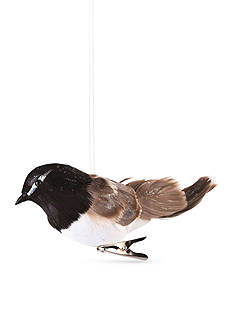 Napa Home & Garden™ 6.5-in. Black Bird Clip Ornament