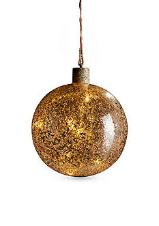 6-in. Lit Chunky Vintage Glass Ball Ornament