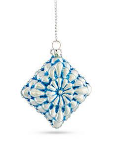 Napa Home & Garden™ 3-in. H Diamond Glass Medallion Ornament