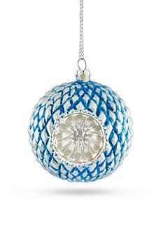 Napa Home & Garden™ 4-in. H Tufted Reflector Glass Ball Ornament