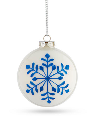 Napa Home & Garden™ 4.5-in. H Painted Snowflake Glass Ball Ornament