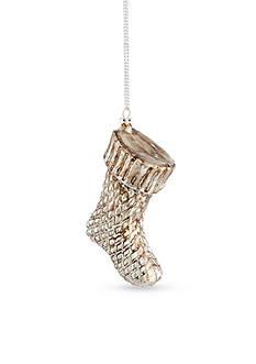 Napa Home & Garden™ 5.75-in. Snowy Stocking Glass Ornament