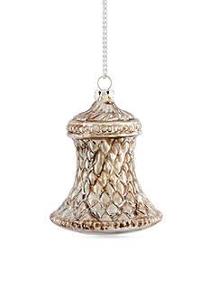 Napa Home & Garden™ 3.25-in. Snowy Church Bell Glass Ornament