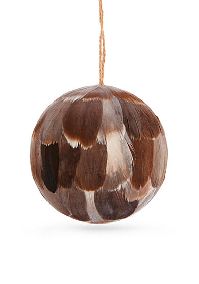 Napa Home & Garden™ 4-in. H Feather Ball Ornament