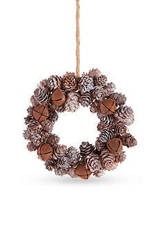 Napa Home & Garden™ 5.5-in. H Jingle Bell Pine Cone Wreath Ornament