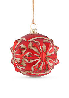 Napa Home & Garden™ 3.5-in. H Vintage Glass Star Ball Ornament