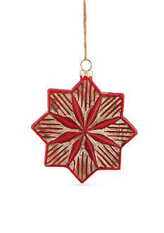 Napa Home & Garden™ 1.5-in. H Vintage Star Glass Ornament