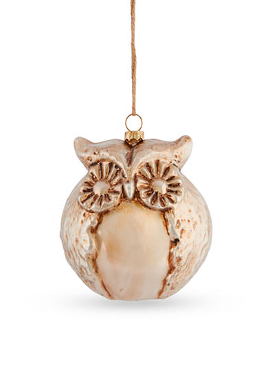 Napa Home & Garden™ 5-in. H Sierra Lodge Glass Owl Ornament
