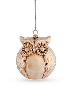 Napa Home & Garden™ 5-in. H Sierra Lodge Glass Owl Ornament