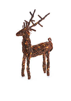 Napa Home & Garden™ 37-in. H Twig and Pine Cone Lighted Reindeer Decor