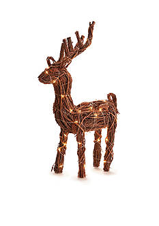 24-in. H Twig and Pine Cone Lighted Reindeer