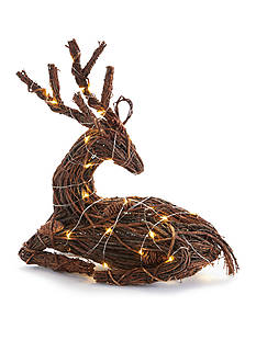 Napa Home & Garden™ 16-in. Twig and Pine Cone Lighted Reindeer