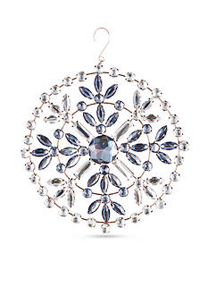 6.5-in. H Vintage Jeweled Snowflake Medallion Ornament