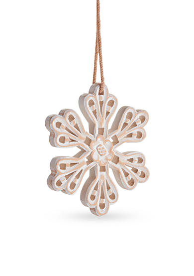 Napa Home & Garden™ 7-in. H Carved Snowflake Ornament