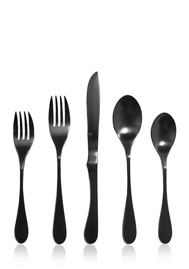 Knork® Set of 5 Black Titanium Flatware