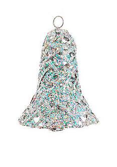 Shea's Wildflower Company 8-in. Glitter Christmas Bell