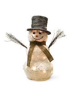 Shea's Wildflower Company 24-in. Lit Frosty Ready for Winter Snowman