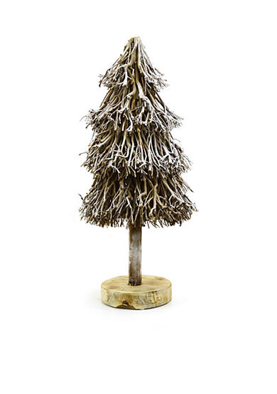 Shea's Wildflower Company 33-in. Round Driftwood Christmas Tree Decor