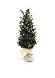Shea's Wildflower Company 22-in. Pine Tree with Snow Decor