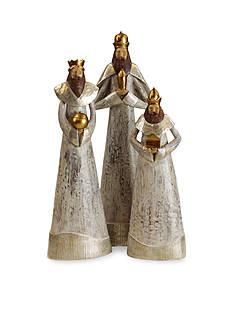 Shea's Wildflower Company 3-Piece The Three Kings Figurine Set