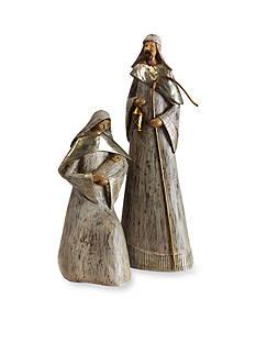Shea's Wildflower Company 2-Piece Joseph and Mary with Baby Jesus Figurine Set