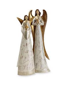 Shea's Wildflower Company 2-Piece Angel Figurine Set