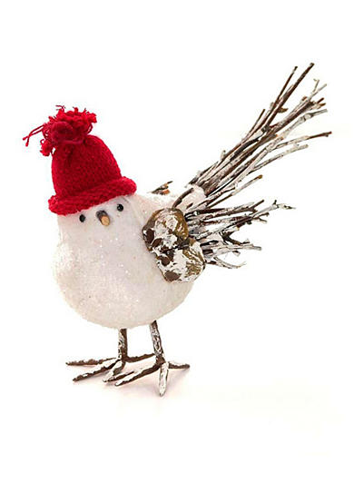 Shea's Wildflower Company 7-in. Hanging Bird Wearing Stocking Cap
