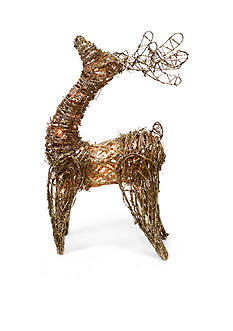 Shea's Wildflower Company 22-in. Natural Deer with Lights