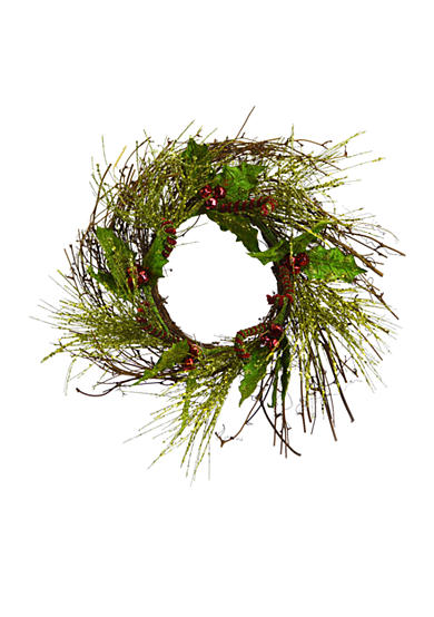 Shea's Wildflower Company 20-in. Candy Cane Wreath