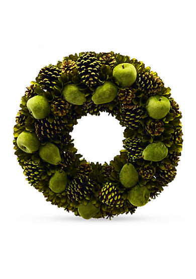 Shea's Wildflower Company 24-in. Pinecone and Apple Wreath