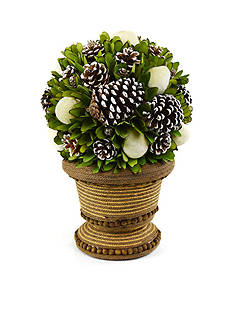 Shea's Wildflower Company 17-in. Apple and Pinecone Topiary