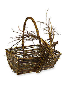 Shea's Wildflower Company 21-in. Natural Deer Basket