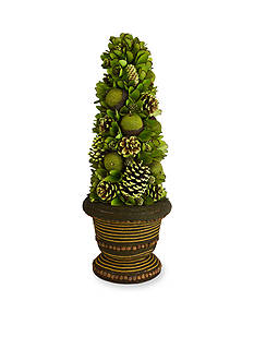 Shea's Wildflower Company 25-in. Pine Cone and Fruit Topiary