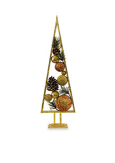 Shea's Wildflower Company 27-in. Framed Christmas Ball Tree