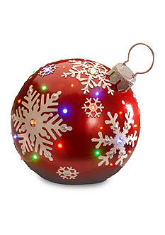 National Tree Company Jeweled Ornament With Snowflake Design and LED lights
